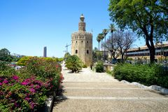 Golden Tower in Seville Royalty Free Stock Photography