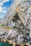 View on Golitsyn Pathway in Noviy Svet Royalty Free Stock Photos