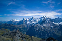 View from Gondala Enroute to Schilthorn Stock Image