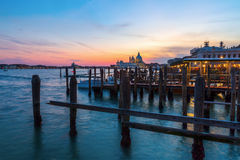 View of a gondola pier in Venice, Italy Stock Image