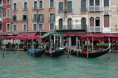 A view from the gondola in Venice Stock Image