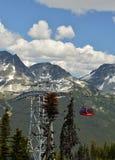 A view of a gondola at Whistler mountain. Stock Photos