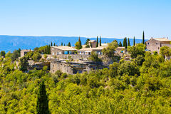 View on Gordes, a small typical town in Provence, France Stock Photography