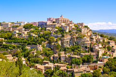 View on Gordes, a small typical town in Provence, France Royalty Free Stock Photos