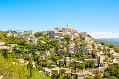 View on Gordes, a small typical town in Provence, France Royalty Free Stock Photography