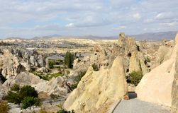 View of Goreme open air museum,complex with rock-cut churches Royalty Free Stock Photography