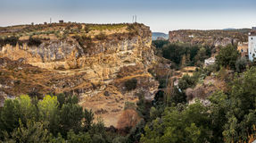 View of the gorge at Alhama de Granada, Spain Royalty Free Stock Photography