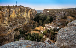 View of the gorge at Alhama de Granada, Spain Royalty Free Stock Photos