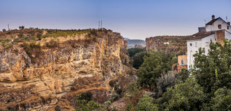 View of the gorge at Alhama de Granada, Spain Royalty Free Stock Image