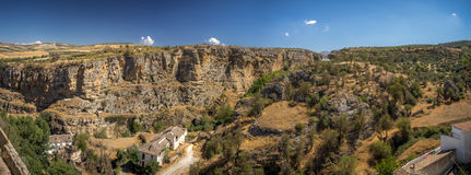 View of the gorge at Alhama de Granada, Spain Royalty Free Stock Images