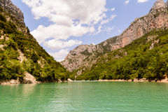 View of the 'Gorge du Verdon' in Provence, France. View of the 'Gorge du Verdon' in Provence royalty free stock images