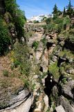 View into gorge, Ronda, Spain. Royalty Free Stock Photography