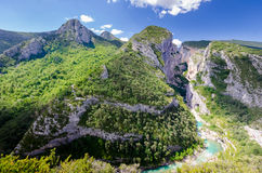 View of the Gorges du Verdon Royalty Free Stock Images
