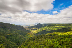View from the Gorges viewpoint. Mauritius. Stock Photo