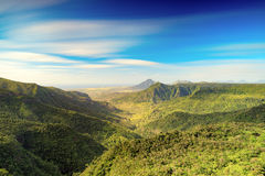 View from the Gorges viewpoint. Mauritius. Royalty Free Stock Images