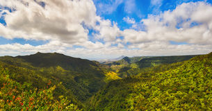 View from the Gorges viewpoint. Mauritius. Panorama Stock Image