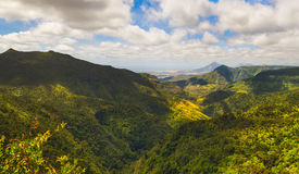 View from the Gorges viewpoint. Mauritius. Panorama Royalty Free Stock Photo