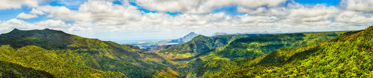 View from the Gorges viewpoint. Mauritius. Panorama Stock Photos