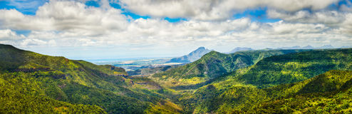 View from the Gorges viewpoint. Mauritius. Panorama Stock Images