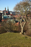 A view of Gothenburg from the Skansen Kronan redoubt, Sweden. Gotehburg. Royalty Free Stock Images