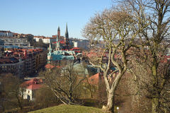 A view of Gothenburg from the Skansen Kronan redoubt, Sweden. Gotehburg. Stock Photos