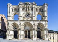 View of the Gothic cathedral in Cuenca Stock Photography