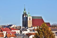 View of the Gothic Church of St. James, Jihlava Czech Republic Stock Photography