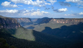 View from Govett's Leap in the Blue Mountains, Australia Royalty Free Stock Photos