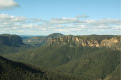 View from Govetts Leap Australia. View from Govetts Leap in the Blue Mountains National Park Royalty Free Stock Photography