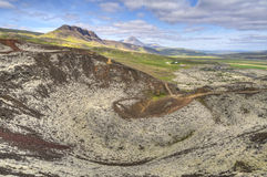 View from Grabrok Crater Top, Iceland Royalty Free Stock Image