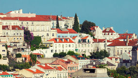 View of Graca district in Lisbon Royalty Free Stock Image