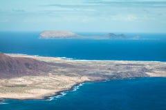 View of Graciosa Island from Mirador del Rio, Lanzarote Island, Stock Photography