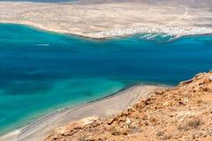 View of the graciosa island from the mirador del rio Stock Image