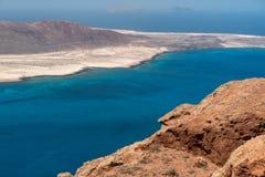 View of the graciosa island from the mirador del rio Stock Images