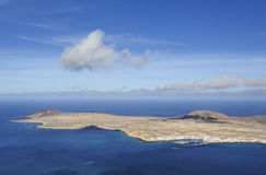 View of Graciosa Island from Mirador del Rio, Lanzarote Island Royalty Free Stock Image