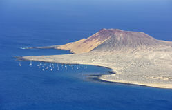 View of Graciosa Island from Mirador del Rio, Lanzarote Island Stock Image