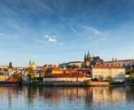 View Gradchany (Prague Castle) and St. Vitus Cathedral Stock Images