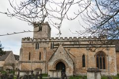 St Mary`s Church, Bibury, Gloucestershire. A view of the Grade 1 listed St Mary`s Church, Bibury, Gloucestershire Royalty Free Stock Image