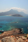 View from Gramvousa fortress, Crete. Greece Royalty Free Stock Photos