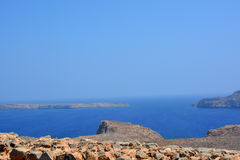 View from Gramvousa fortress, Crete. Greece Royalty Free Stock Image