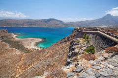 Lagoon Balos, Gramvousa, Crete, Greece Royalty Free Stock Photo