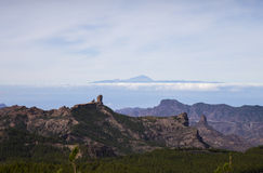View from Gran Canaria mountain Royalty Free Stock Images