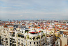 View of the Gran Via, Madrid spain Stock Photography