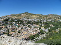 View of Granada from Alhambra Stock Photography