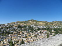 View of Granada from Alhambra Royalty Free Stock Images