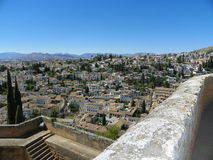 View of Granada from Alhambra Royalty Free Stock Photo