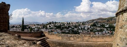 View of Granada from the Alhambra Stock Image