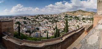 View of Granada from the Alhambra Royalty Free Stock Photo