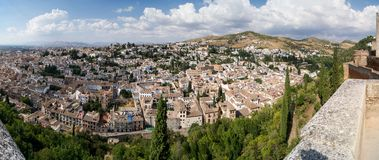 View of Granada from the Alhambra Royalty Free Stock Photography