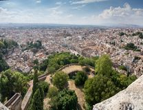 View of Granada from the Alhambra Stock Photography